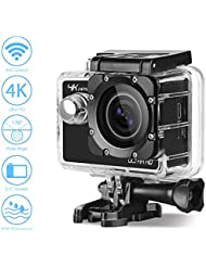 Action Camera Aoleca 20MP 1080P 4K Action Cam Waterproof up to 30m Full HD 170° Ultra Wide-Angle Lens WIFI Underwater Camera 2.0