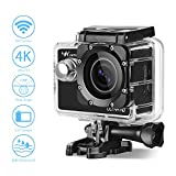 Action 4K Kamera Aoleca WiFi 2,0 Zoll Full HD 170 ° Weitwinkel Sports Action Camera Cam Mit 12MP Bild und Video 30M Tiefe Wasserdicht für Fahrrad Motorrad Tauchen Schwimmen usw