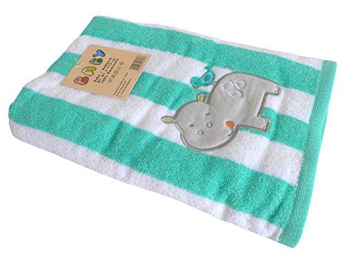 Großes Badetuch für Baby / Kinder ~ Nilpferd Hippo~ Handtuch Badetuch Strandtuch