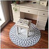 WDS zlh Teppich einfach skandinavischen runde Schlafzimmer mit privaten Korb schaukelstuhl drehstuhl Kissen mit Durchmesser runde (Design: graue diamanten, größe: 180 * 180cm)