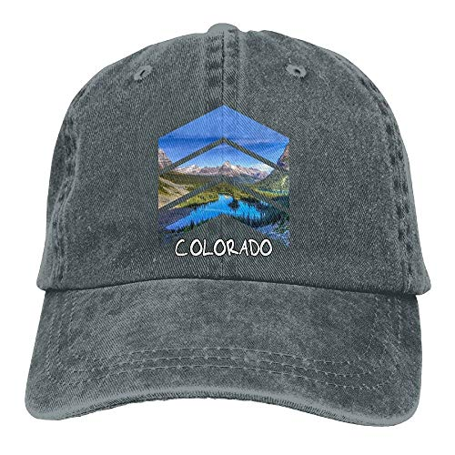 Rocky Mountains Colorado Triangle Classic Unisex Baseball Cap Adjustable Washed Dyed Cotton Ball Hat Black -