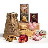 Hearts & Flowers Springtime Osterschokolade Geschenkkorb für Sie