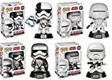 Funko Pop! Star Wars The Last Jedi: First Order Executioner + First Order Snowtrooper + First Order Flametrooper + Captain Phasma - Vinyl Bobble-Head Figure Set New