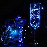 ODJOY-FAN 6 Stück 3m 30LED Fee Licht Zeichenfolge Licht Batterie Sternenklar Zeichenfolge Kupfer Draht Dekor Weihnachten Wohnaccessoires Beleuchtung String Light (Blau,6 PC)