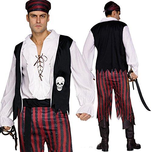 en Piraten Kostüm Eine Größe Passt STD bis zu 6ft 90kg (Piraten Kostüme Taille Schärpe)