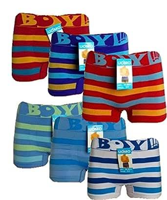 12 Stück Kinder Jungen Boxershorts Unterhosen Kids Unterwäsche Mikrofaser 98 bis 164 (110-122, Boy )