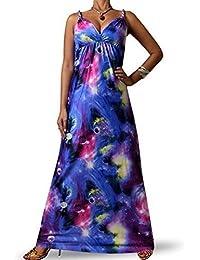 Robe Longue Femme Angela Rope - Bleu Galaxie, 36-38