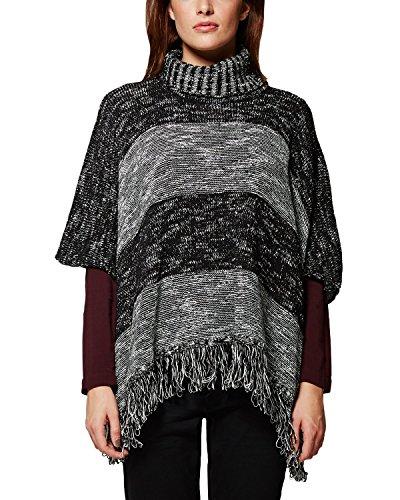 Comma CI Damen Poncho 88.511.62.2988, Gr. 36 (Herstellergröße: S), Grau (grey/black knit 99X7)