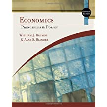 Economics: Principles and Policy (Available Titles Aplia) by William J. Baumol (2008-07-08)