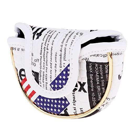 MagiDeal Golf Stars and Stripes USA Amerika Flagge Mallet Putter Head Cover Half Mallet Headcover Kompakt & Wasserdicht 2 Größen - Kleiner Halbkreis -