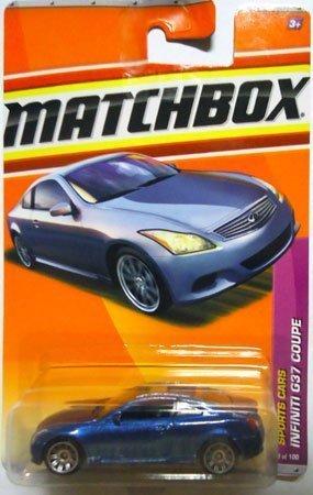 2011 Matchbox metallic blue INFINITI G37 COUPE #9/100, Sports Cars 9/13 by Matchbox (Infiniti G37 Coupe)