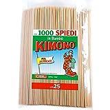 Kimono - Spiedini in legno di bambù - Stecchini per spiedini, barbecue - Spiedi legno lunghi 25 cm - confezione 1000pz