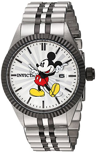 Invicta Men's 'Disney Edition' Quartz Stainless Steel Casual Watch, Color:Two Tone (Model: 22773)