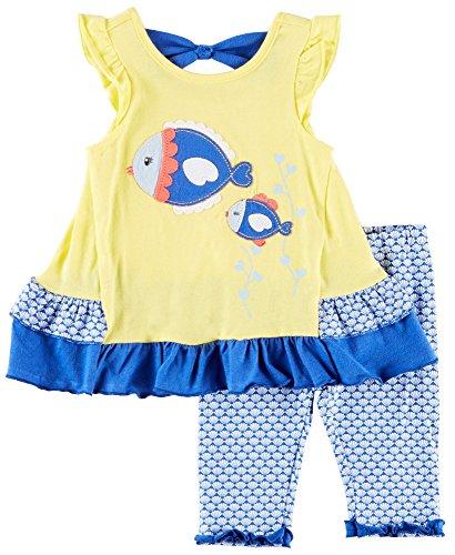Nannette Fisch- Capri- Set für Mädchen 24 Monate Gelb/Blau/Weiß Nannette Baby Set
