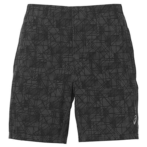 ASICS Herren Funnelneck Shorts, Grey, L