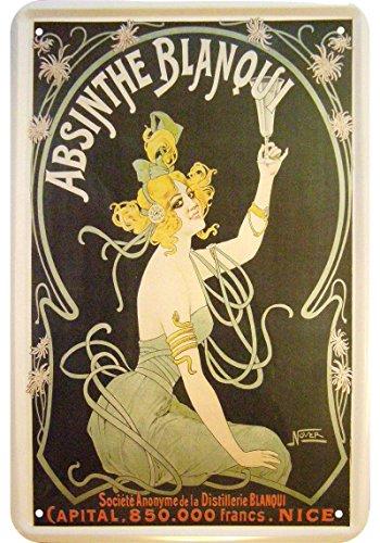 Absinthe 'Blanqui' Reklame Blechschild Replik