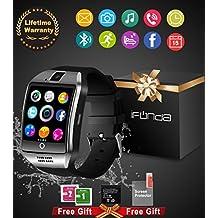 Smart Watch,Teléfonos Inteligentes Reloj Inteligente Bluetooth Smart Watch Reloj Inteligente Hombre Mujer Niño Reloj Deportivo Con Cámara Soporte SIM / TF para Android/IOS (18-sliver)
