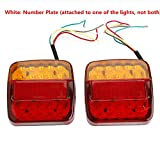 2x 8 LED Rücklicht Anhänger mit E11 PRÜFZEICHEN Universal Rückleuchten Heckleuchten Bremsleuchte Blinker Rot für Hänger Anhänger LKW Lastwagen KFZ Boot PKW Trailer …