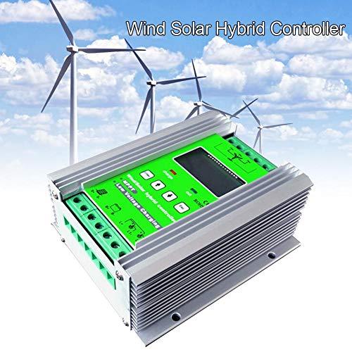 SinceY Solar Ladegerät Windrad Laderegler Solar Laderegler, 1200W MPPT Wind Solar Hybrid-Laderegler 24V 40A Für 800W Wind 400W Solar Mit Booster Und Freier Speicherlast