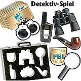 108 teiliges detektiv party set f r kindergeburtstag. Black Bedroom Furniture Sets. Home Design Ideas