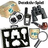 Detektivspiel plus Spielanleitung, mit 6 Hinweiskarten und 6 Puzzleteilen