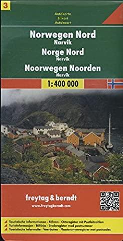 Norwegen Nord - Narvik, Autokarte 1:400.000, Blatt 3, freytag & berndt Auto + Freizeitkarten