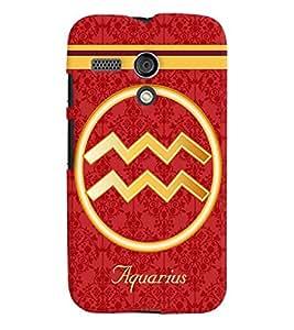 Fuson 3D Printed Sunsign Aquarius Designer back case cover for Motorola Moto G - D4391