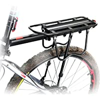 Bike Cycling Sport Rear Carrier Rack Seat Bicycle Disc Brake/V-brake Cargo Shelf by (Top Load Color Bar)
