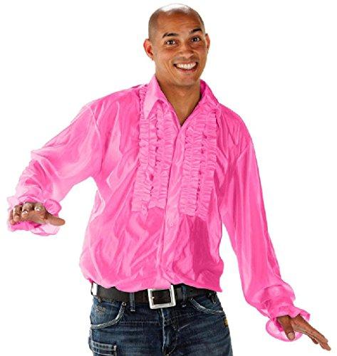 Shirt, XL/XXL, rosa (Männer Disco Kostüm)
