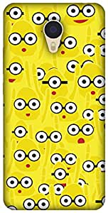 The Racoon Grip printed designer hard back mobile phone case cover for Meizu M3 Note. (Yellow Mon)