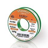 STANNOL Lötdraht Typ HS10 Legierung TC Sn99Cu1, 0,5 mm, 100 g Spule, 1 Stück, 631904
