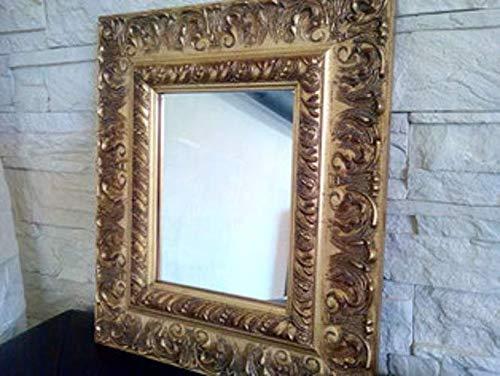 Spiegel Antik Unikat Badspiegel Flur Esszimmer Rahmen gold Holz massiv mit floralem Muster auch Sonderanfertigung und weitere Farben - Antike Esszimmer