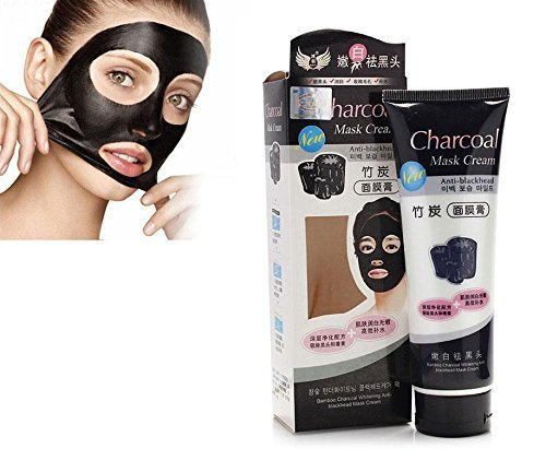 Bamboo Charcoal Anti-Blackhead Suction Mask Cream (130g) With FREE Maxed Facial Hair Spring Epilator For Women