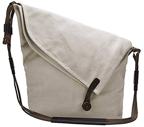 Canvas A4 Tasche Schultertasche Alltagstasche Messenger Bag Retro Handtasche Groß Umhängetaschen Stofftasche Damen