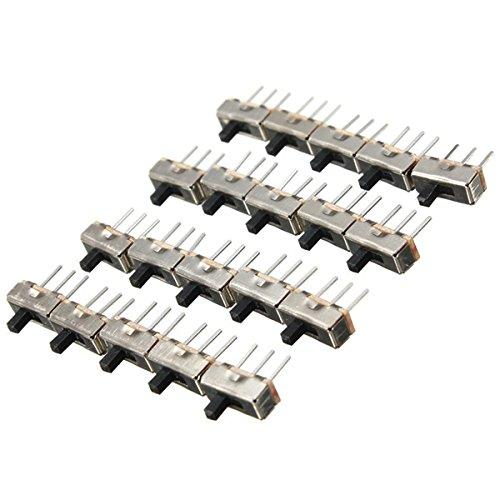 Yongse 20Pcs SS12D00G3 2 Position SPDT 1P2T 3 Pin PCB Panel Mini vertikalen Schiebeschalter -