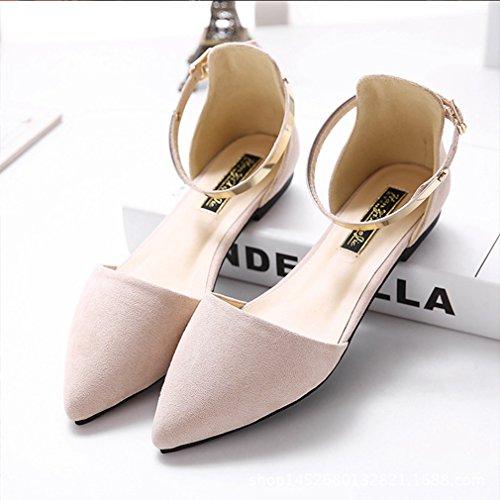 Sandálias Femininas sapatos Cinta Pontas De Confortáveis Verão Topaktuell Elegante Tornozelo Damasco De Toe Respirável Fechadas Nobuk rrAdRqFn