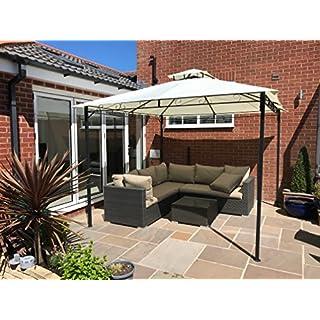 Garden Gazebo Ecru Party Shelter Patio Shade Outdoor Sun Canopy Stunning Design