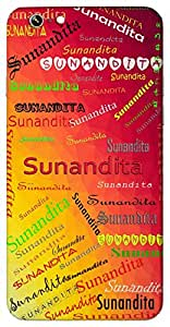 Sunandita (Happy) Name & Sign Printed All over customize & Personalized!! Protective back cover for your Smart Phone : SONY E-4