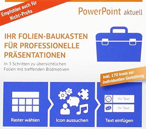 Preisvergleich Produktbild PowerPoint aktuell - Ihr Folien-Baukasten für professionelle Präsentationen,  CD-ROM In 3 Schritten zu übersichtlichen Folien mit treffenden Bildmotiven. Inkl. 170 Icons zur individuellen Gestaltung