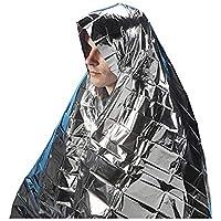 JER - Manta para Acampada, Senderismo, Primeros Auxilios (130 x 210 cm)