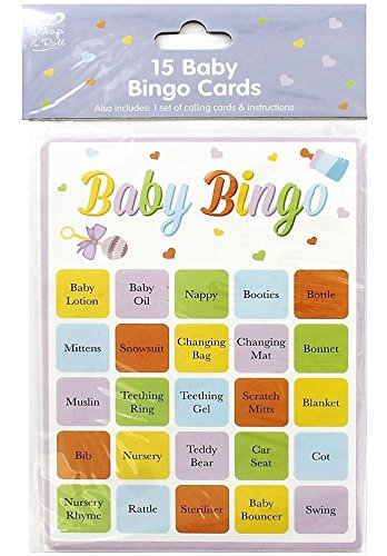 Baby Shower Game - Baby Bingo Cards by Wrap & Roll