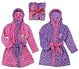 FROZEN Bademantel Kimono Gürtel Kapuze Morgenmantel lila rosa 98 104