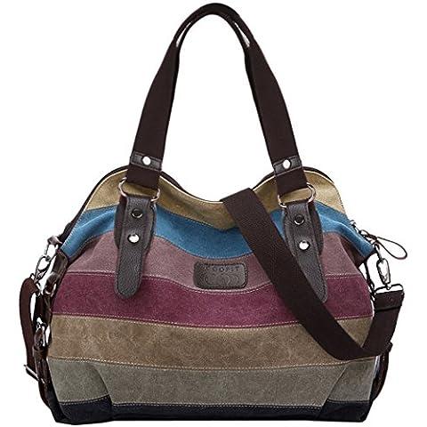 Coofit Multicolor Borsa Tela Delle Signore Borsetta Messenger Bag …