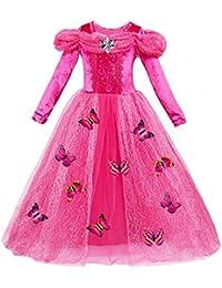 Le SSara Navidad Cosplay Niñas largo de la nieve del cabo Princesa Dress Disfraces