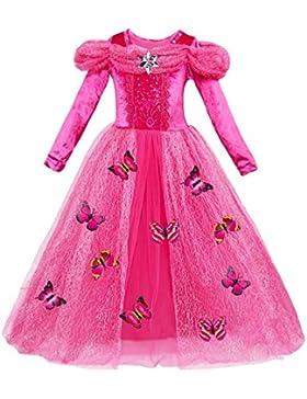Le SSara Langarm Mädchen Prinzessin Cosplay Kostüme Fancy Schmetterling Kleid