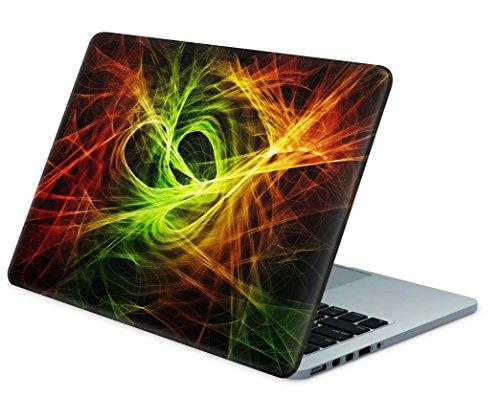 """Skins4u Laptop Aufkleber Universal Skin Netbook Sticker für bis zu 15,6"""" Displays in 38,1x26,7cm - Particles"""