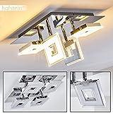 """LED Deckenspot """"Viereck"""" aus glänzendem Chrom - Deckenstrahler 4-flammig mit"""