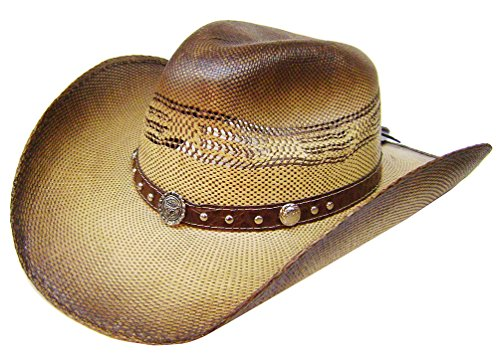 modestone-unisex-straw-cowboy-longhorn-bull-metal-concho-studs-hatband-brown
