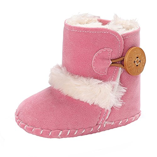 e2927bd8a69b9 ❤️Amlaiworld Garçon Filles bébé Bottes de Neige à Semelle Souple Chaussures  de Berceau Douces Bottes