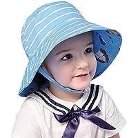 Arcweg Sombrero de Sol para Bebés Niña Niño 0-8 Años 50+ UPF Transpirable Sombrero ala Ancha con Barbijo
